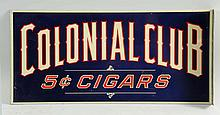 1920s-1930s Colonial Club Tin Flange Sign.