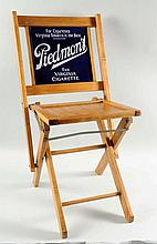 Pair of Piedmont Cigarettes Folding Chairs.