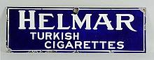 1919-1920 Helmar Cigarettes Porcelain Sign.