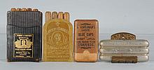Lot of 5: Pocket Cigar Cases.