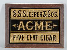 Acme 5 Cent Cigar Tin Sign.