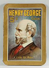 Henry George Cigar Self-framed Tin Sign.