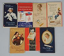 7 Chesterfield Cigarettes Bridge Scoring Booklets