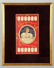 Rare 1900 Coca-Cola Embossed Cardboard Calendar.