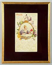 Rare 1899 Coca-Cola Calendar.