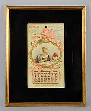 Wonderfully Rare 1899 Coca-Cola Calendar with Pad