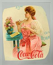 Central Portion of a Rare 1897 Coca-Cola Calendar