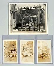 Group of 4: Old Coca-Cola Photographs.