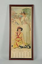 1918 Coca-Cola Calendar with Girls at the Beach.