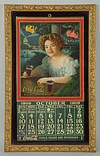 Beautiful 1909 Coca-Cola Framed Calendar.