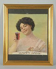 1910 Coca-Cola Large Format Calendar Top.