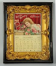 Rare & Beautiful 1901 Coca-Cola Calendar.