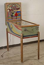 1947 Bally Ballyhoo Pinball Machine.
