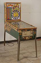 1957 Gottlieb Straight Flush Pinball Machine.