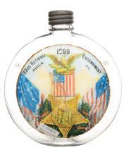 33rd National Encampment Glass Canteen Flask.