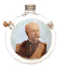 Gen. Nelson A. Miles Glass Canteen Flask.