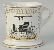 Carriage Shaving Mug.