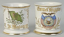 Lot of 2: Fraternal and Patriotic Shaving Mugs.