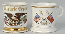 Lot of 2: Patriotic Shaving Mugs.