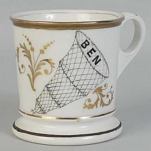 Fish Net Shaving Mug.