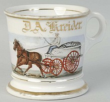 Horse Drawn Coal Cart Shaving Mug.