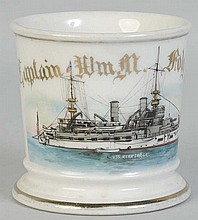 US Navy War Ship Shaving Mug.