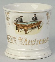 Billiard Player Shaving Mug.