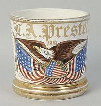 Patriotic Shaving Mug.