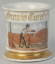 Brick Masonry Shaving Mug.