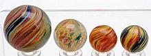 Lot of 4: Onionskin Marbles.