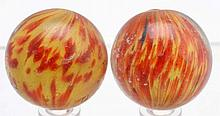 Lot of 2: Onionskin Marbles.