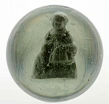 Girl with Dog Sulphide Marble.