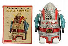 Tin Litho Battery Op. Mr. Atomic.