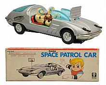Tin Litho & Painted Space Patrol Car.