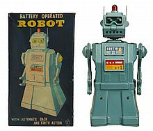 Painted Tin Battery Op. Robot AKA Directional.
