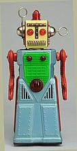 Tin Painted Battery Op. Radical Robot.