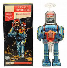 Tin Litho Battery Op. Space Conquerer.