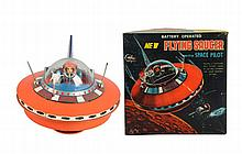 Japanese Battery Op. Flying Saucer Toy.