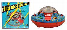 Tin Litho & Plastic Battery Op. UFO X05.