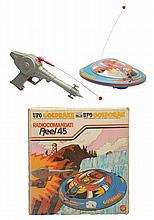 Tin Litho & Plastic Battery Op. UFO Goldrake.