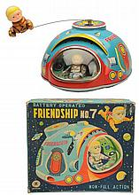 Tin Litho Battery Op. Friendship No.7.