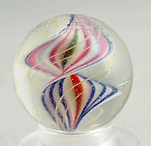 Naked Double Helix Ribbon Swirl Marble.