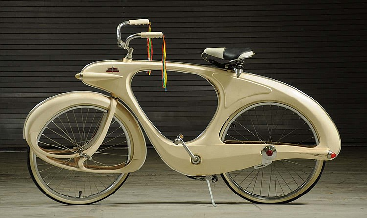 Denver Car Auction >> Bowden Art Deco Style Balloon Tire Bicycle.