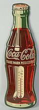 Tin Coke Bottle Thermometer.