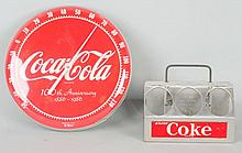 Lot of 3: Coca-Cola Advertising Pieces.