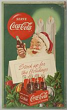 1952 Coca-Cola Santa Poster.