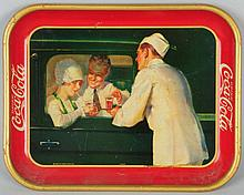 1927 Coca-Cola Serving Tray with Carhop.