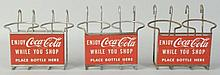 Lot of 3: Coca-Cola Shopping Cart Bottle Holders.