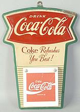 1960s Coca-Cola Tin Calendar Holder.