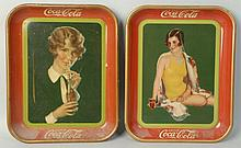 Lot of 2: Coca-Cola Serving Trays.